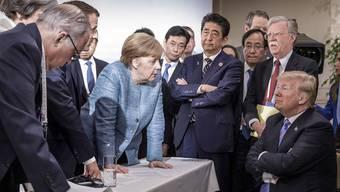 Mit einem Tweet zieht US-Präsident Donald Trump seine Unterschrift auf der Abschlusserklärung des G7-Gipfels in Kanada zurück.