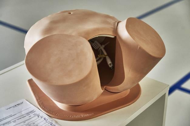 Mit dem Unterleib-Simulator können angehende Ärzte etwa das Durchführen von Ultraschall-Untersuchungen oder den Embryotransfer bei künstlichen Befruchtungen üben. Bei diesem Objekt fehlt noch das technische Innenleben.