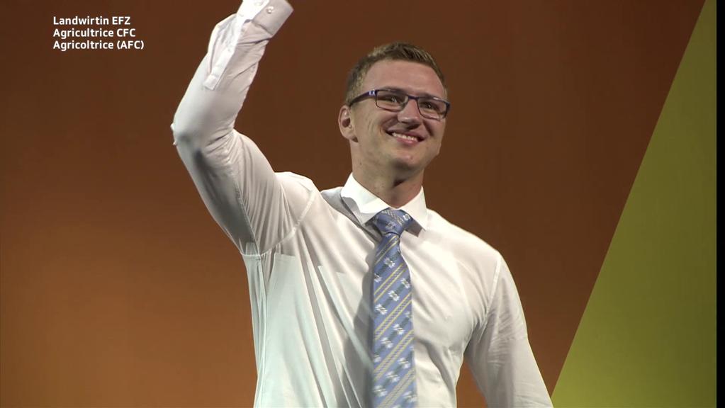 Johannes Meyer aus Trimmis holt sich als Landwirt die Goldmedaille. (Bild: zVg)