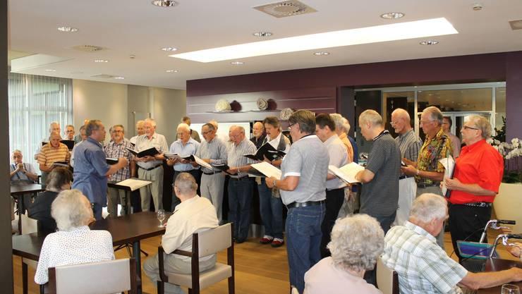 Männerchor Fislisbach singt im Reg. Alterszentrum Fislisbach  Foto folgt separat.