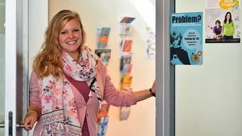 Die Türe von Schulsozialarbeiterin Simone König an der Kreisschule Gäu ist stets offen für Beratung von Schülern sowie Lehrpersonen und Eltern