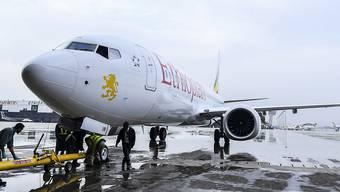 Eine Boeing 737 Max 8 der äthiopischen Fluggesellschaft Ethiopian Airlines. (Archivbild)