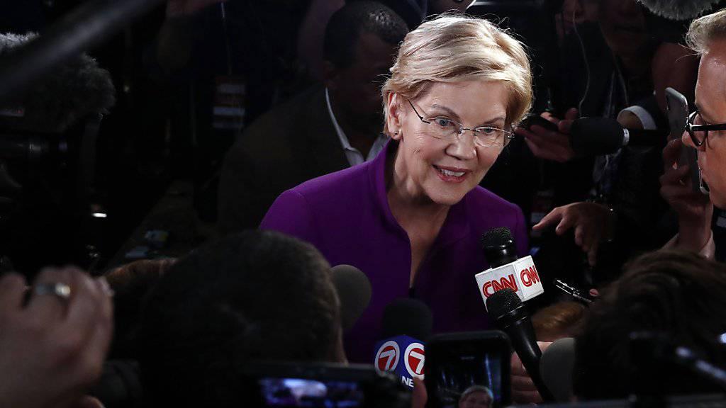 Schnitt bei der TV-Debatte gut ab: Die Senatorin und Präsidentschaftskandidatin Elizabeth Warren.