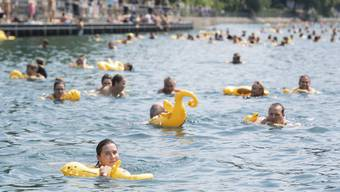 Am Samstag schwimmen wieder über 4000 Menschen vom Frauenbad am Stadthausquai bis zum Oberen Letten. (Archiv)