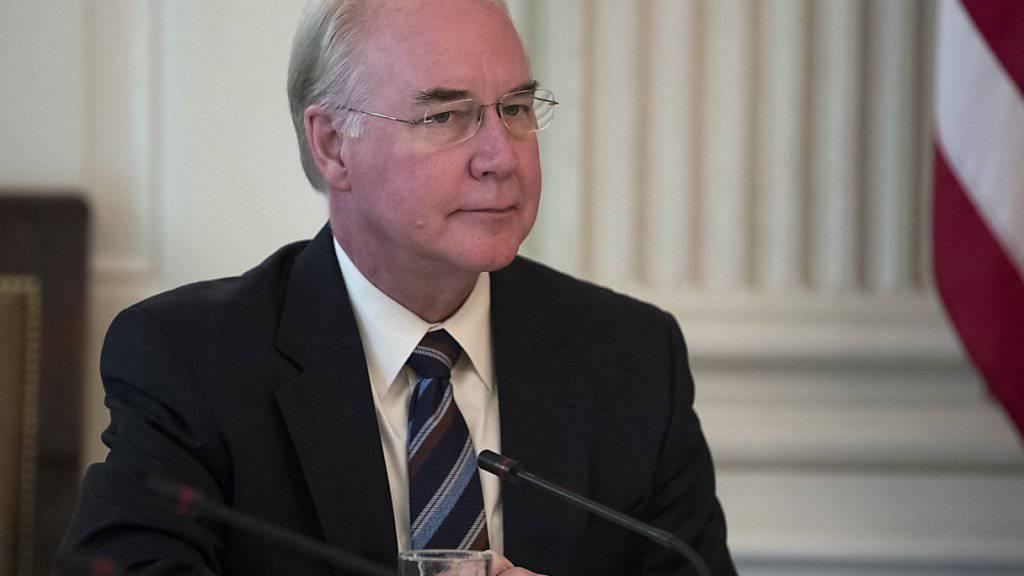 Tom Price gab sein Amt als US-Gesundheitsminister ab (Archiv)