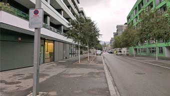Die Limmatfeldstrasse: Hier wurde ein 71-jähriger Falschparkierer gebüsst.