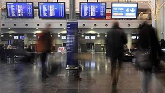 Abflughalle am EuroAirport Basel Mülhausen (Symbolbild)