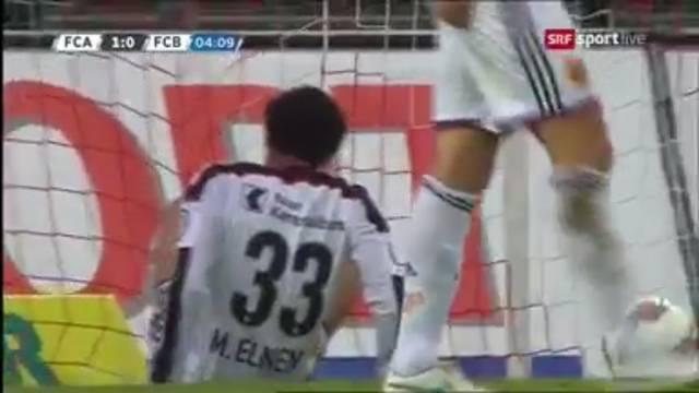 Das Basler Geschenk für den FC Aarau: Das Eigentor von FCB-Elneny.