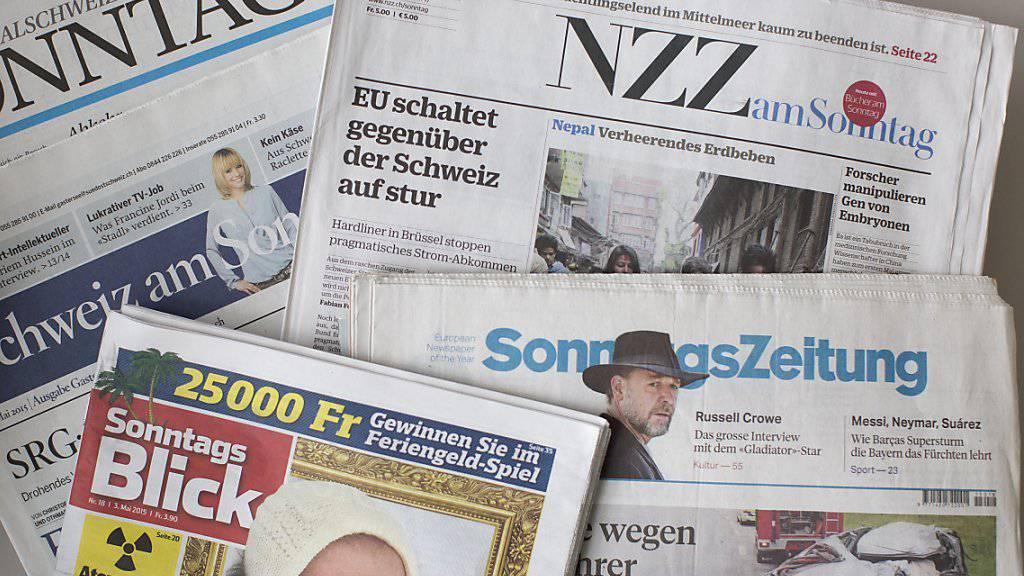 Flugblätter, Wahllisten und mehr: Darüber berichten die Sonntagszeitungen (Archivbild).
