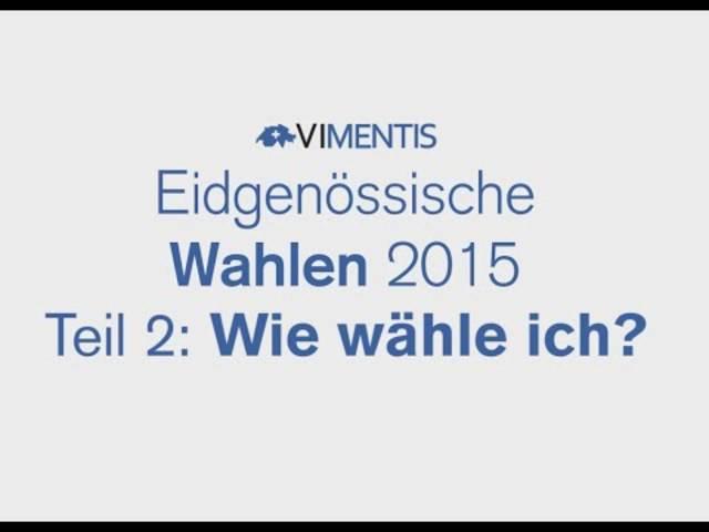 Wie wähle ich? Die Wahlanleitung von Vimentis für die National- und Ständeratswahlen.