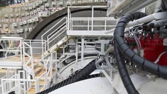 Seit Februar ist der Belchen-Sanierungstunnel im Bau. Das ENSI nutzt den Vortrieb, um im Opalinuston zu forschen. (Archiv)