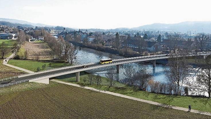 Mit der Umfahrung wird Mellingens Altstadt vom Durchgangsverkehr entlastet.
