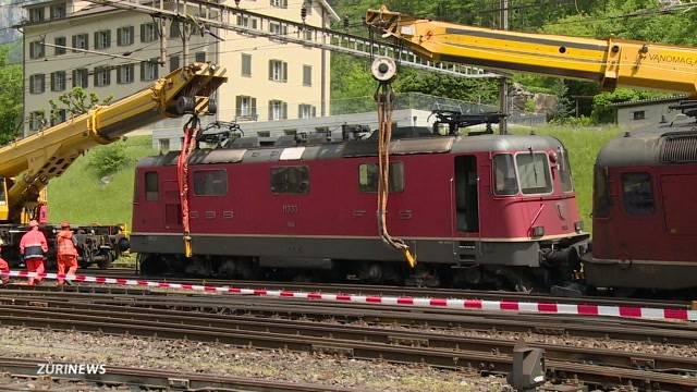 Güterzug in Erstfeld entgleist
