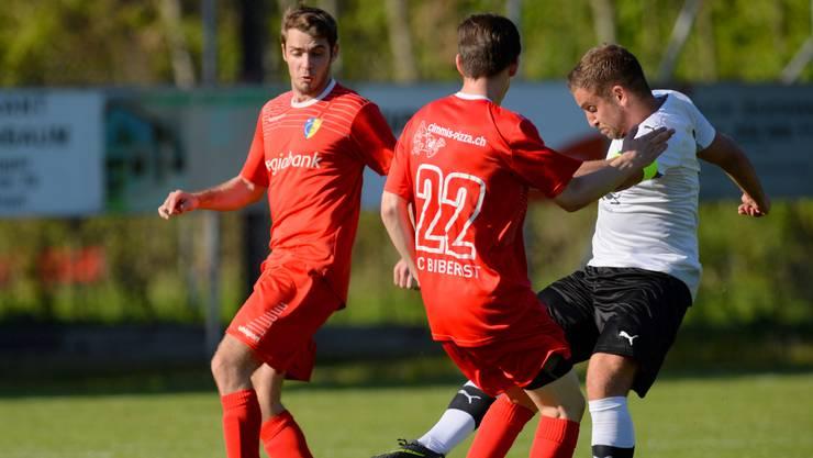 Der FC Biberist (rot) hat zwei Matchbälle zum Aufstieg.