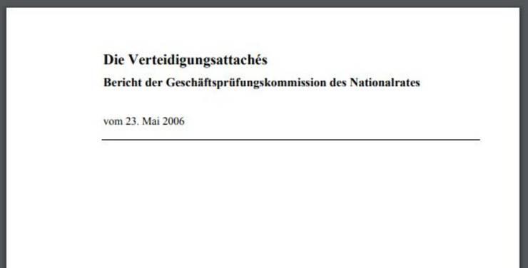 Dicke Post: Der GPK-Bericht von 2006 enthielt scharfe Kritik.