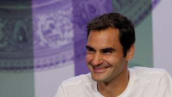 Roger Federer stand Rede und Antwort nach seinem achten Wimbledon-Titel