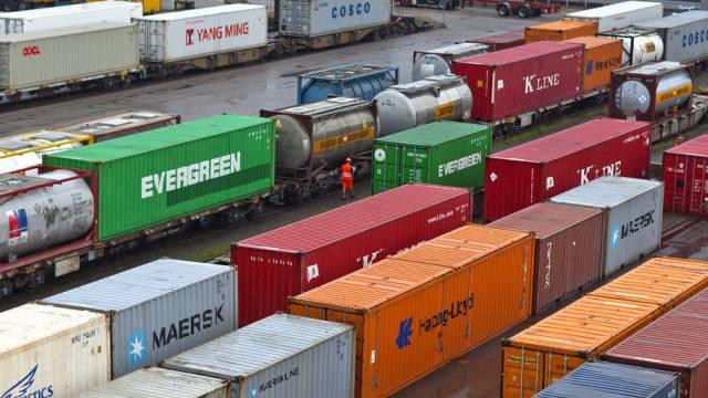 Container für den Export (Symbolbild)