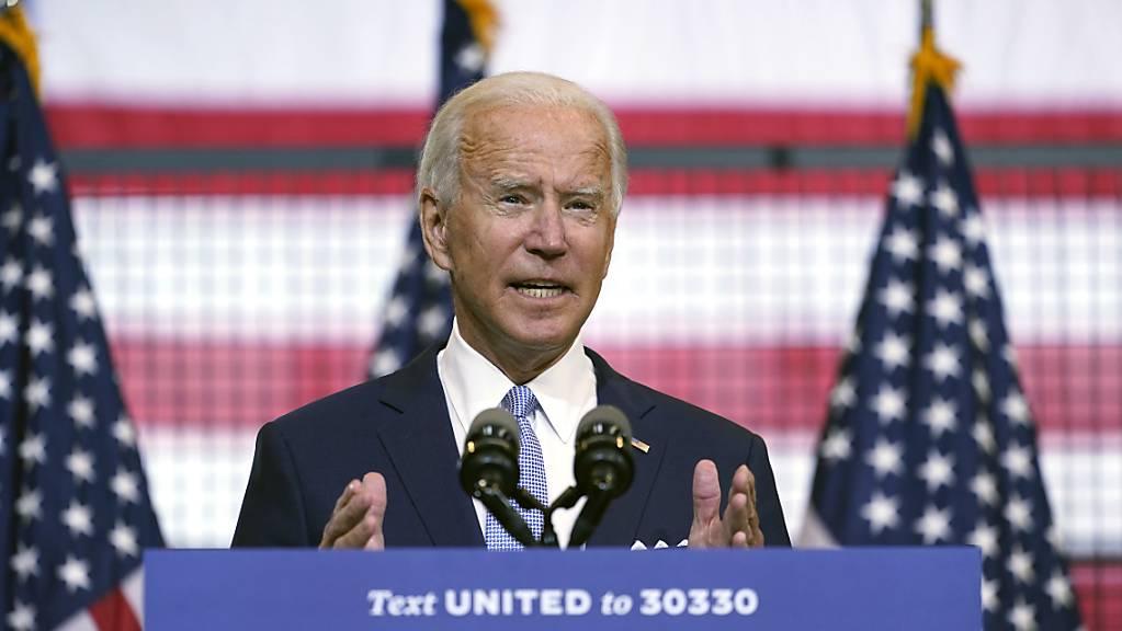 Joe Biden, demokratischer Präsidentschaftskandidat, spricht bei einer Wahlkampfveranstaltung in Pittsburgh. Foto: Carolyn Kaster/AP/dpa