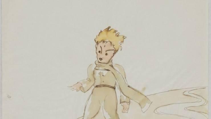 """Den kleinen Prinzen und den Fuchs hat der französische Autor Antoine de Saint-Exupéry skizziert, bevor """"Le petit prince"""" und """"The Little Prince"""" 1943 zeitgleich publiziert wurden. Die Skizze ist in einem Winterthurer Altstadthaus gefunden worden."""