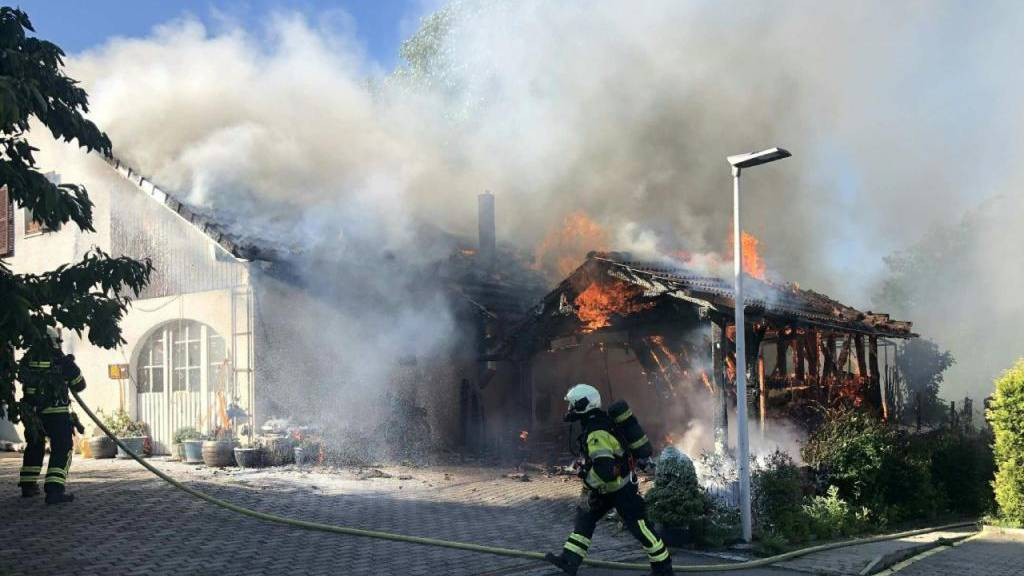 Statt Unkraut Villa verbrannt: Fataler Einsatz eines Gasbrenners