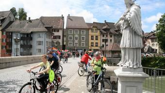 In diesem Jahr wird der slowUp Hochrhein nicht über die alte Rheinbrücke in Laufenburg rollen.
