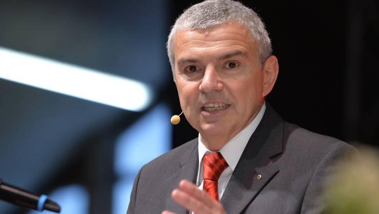 Silvio Bertini, Präsident des Verwaltungsrates, betonte in seiner Eröffnungsrede, dass keine andere Bank bei der Schweizer Bevölkerung ein solches Vertrauen geniesse wie die Raiffeisen-Gruppe.