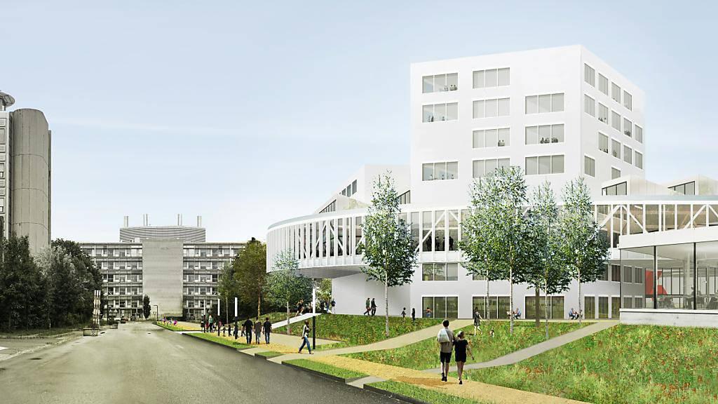 Das Westschweizer Radio und Fernsehen RTS erhält 2025 ein neues Gebäude in Ecublens im Kanton Waadt