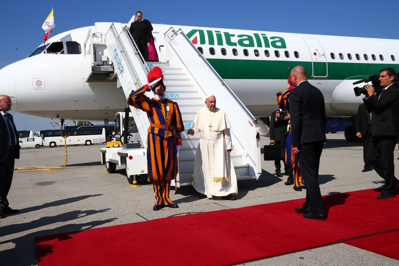 Am 21. Juni 2018 besucht Papst Franziskus Genf. (© Keystone)