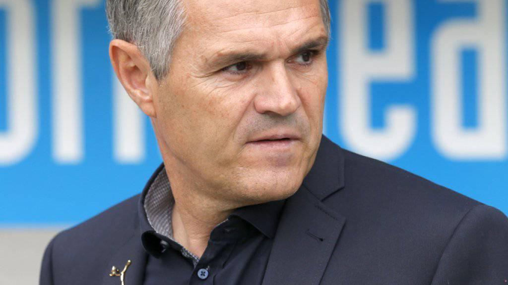 GC-Coach Pierluigi Tami muss im Duell gegen Vaduz auf einige Stammspieler verzichten