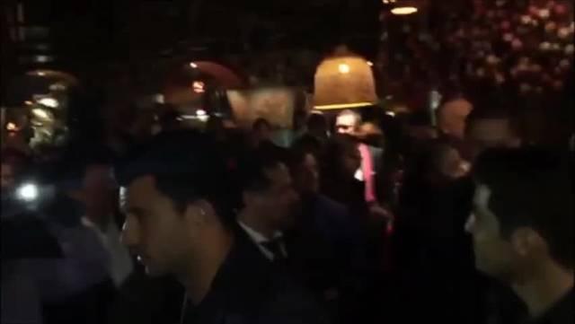FC Basel Maischterfiir: Die Mannschaft betritt den Balkon