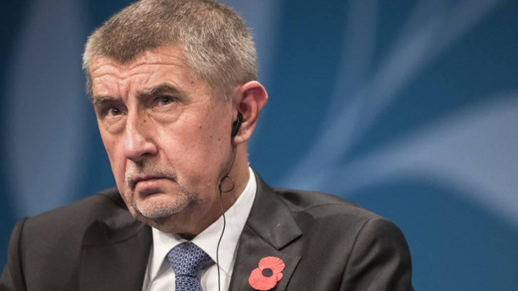Der tschechische Ministerpräsident Andrej Babis sagt, sein Sohn sei psychisch krank.  (Archivbild)