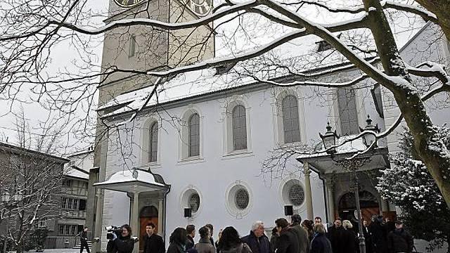 Abdankungsfeier in Kirche St. Peter