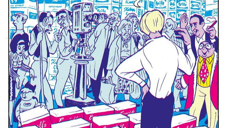 Andy Warhol lässt sich feiern: So wars in seinem Leben, so zelebriert es Typex in der Comic-Biografie des Pop-Künstlers. HO