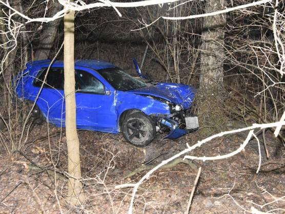 Altstätten SG, 13. Februar: In der Nacht kam ein 22-Jähriger von der Strasse ab und rutschte mit dem Auto rund 30 Meter eine Böschung hinunter. Der Verletzte musste eineinhalb Stunden auf Hilfe warten.