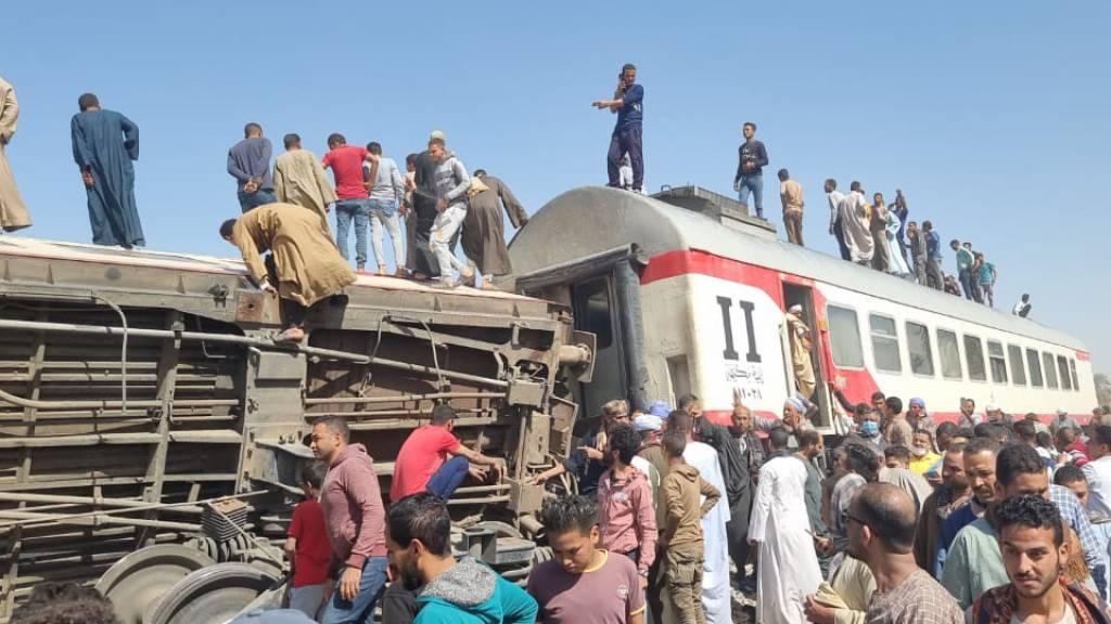 Mindestens 32 Tote bei Zusammenstoss zweier Züge in Ägypten