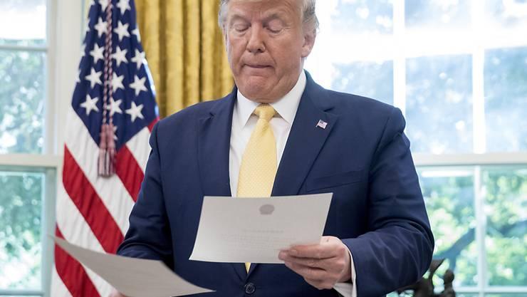 Will seine Steuerunterlagen nicht veröffentlichen: US-Präsident Donald Trump. (Archivbild)