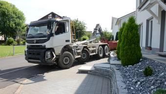 Zwischenfall mit einem Lastwagen in Gelterkinden