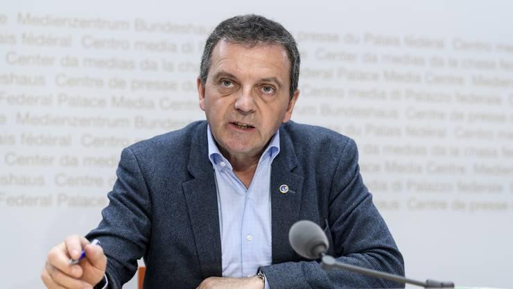 Ist Präsident des Egerkinger Komitees: der Solothurner SVP-Nationalrat Walter Wobmann. (Archivbild)
