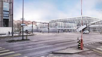 Das Zürcher Stimmvolk hiess den Bau des Bundesasylzentrums im September klar gut. Die IG Duttweiler-Areal bekämpft das Projekt mit Rekursen. (Visualisierung)