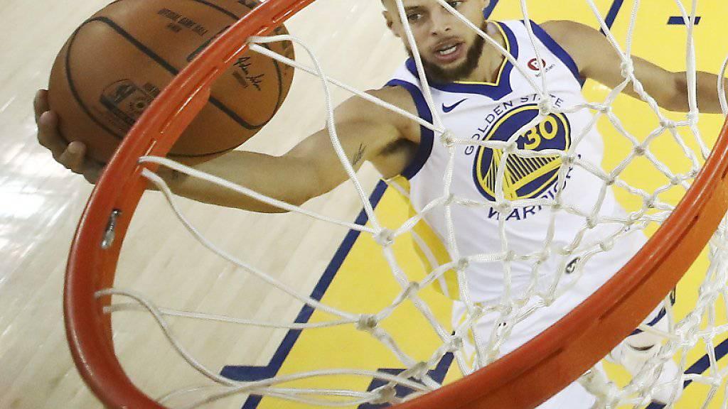 Stephen Curry zeigte im ersten Finalspiel eine starke Leistung