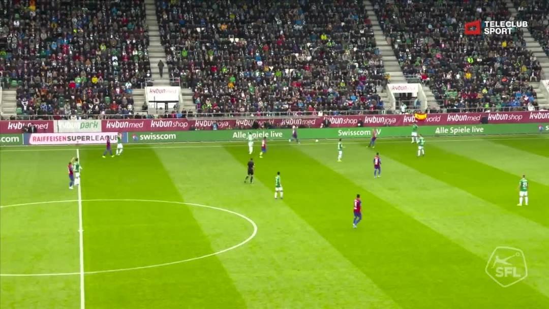 FC St.Gallen - FC Basel - Noah Okafor  , 17. Minute (6.10.19)