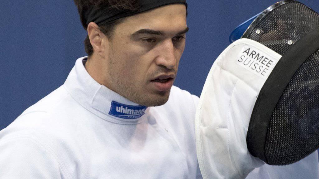 Degenfechter Max Heinzer scheiterte am Heim-Weltcup in Bern im Einzel in den Achtelfinals