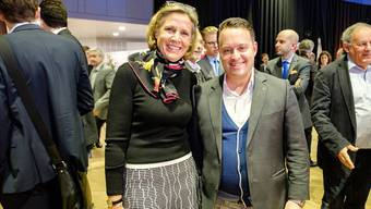 Da war die bürgerliche Welt noch in Ordnung: Patricia von Falkenstein (LDP) und Sebastian Frehner (SVP).