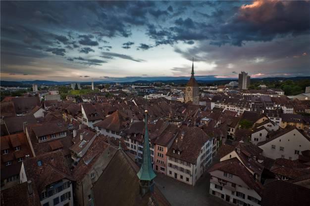 Die Aarauer Altstadt.