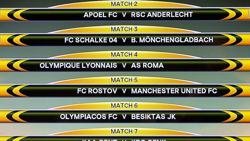 Am Freitagmittag wurden in Nyon die Achtelfinal-Partien der Europa League ausgelost