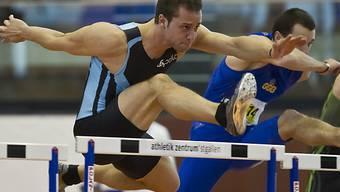 Tobias Furer in 7,80 Sekunden über 60 m Hürden.
