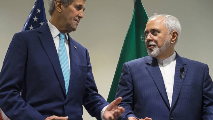 Sie treffen heute in Wieder wieder zusammen: Die Aussenminister der USA und des Irans, John Kerry (l) und Mohammed Dschawad Sarif (Archiv)
