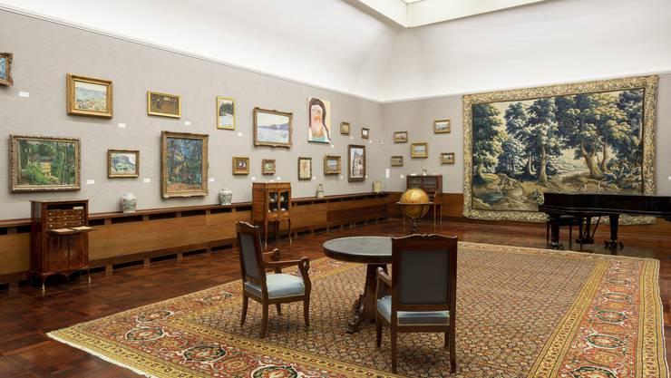 Das Museum bleibt leer: Die Jubiläumsausstellung «Herzkammer» in der Gemäldegalerie der Langmatt.