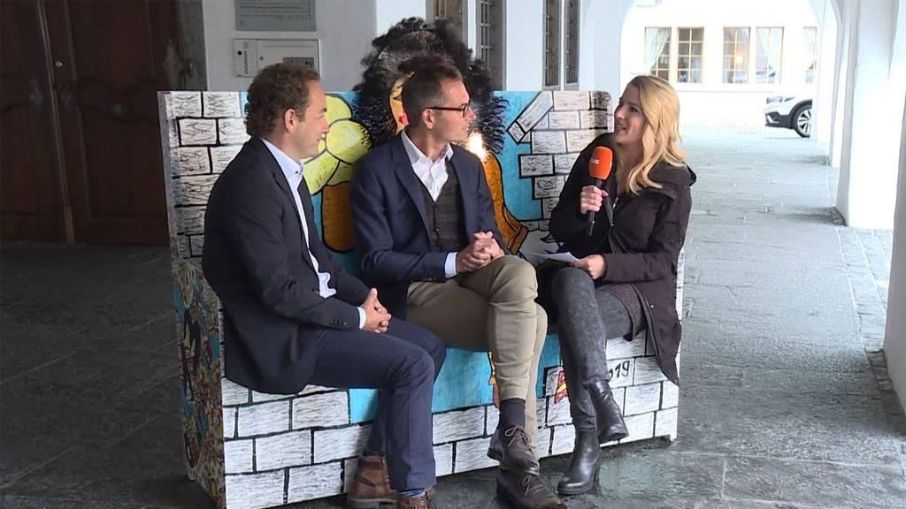 """Thuner Stapi mit Schluss-Fazit zum Projekt """"Thun nimmt Platz"""""""