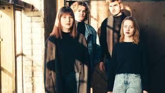 Ellas setzt zu einem musikalischen Höhenflug an (v. l.): Jorina Stamm, Lukas Kuprecht, Marius Meier und Sarina Schmid.